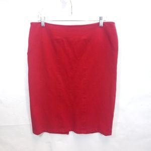 KAREN KANE Red Pencil Skirt